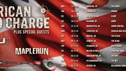 American Head Charge UK Tour 2013