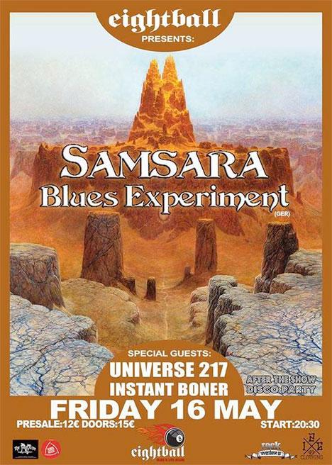 Universe 217 live@8Ball, Thessaloniki supporting Samsara blues Experiment