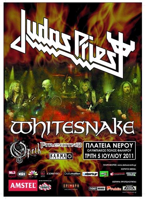 Karma Violens live@Plateia Nerou supporting Judas Priest/Whitesnake/Opeth