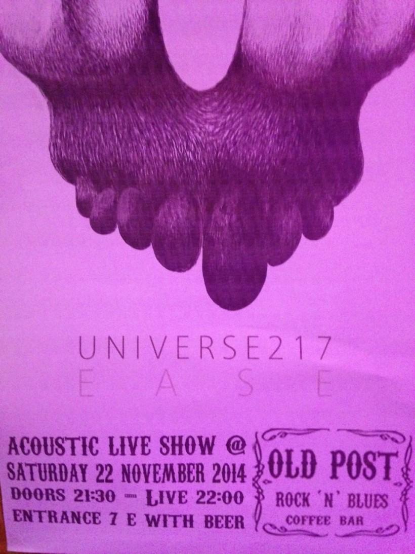 Universe217 live@Old Post, Arta