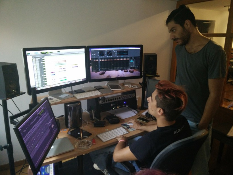 The cameraman studio recording